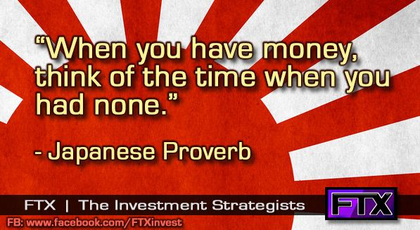 When you have money, think of the time that you had none.