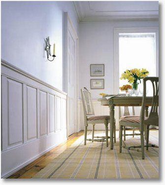 Wood Half Wall Paneling Panels Pinterest Wainscoting Styles And Dining Room
