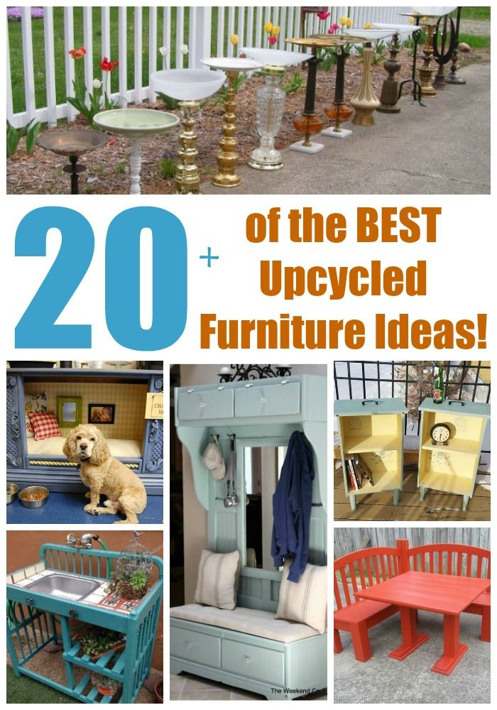 Over 20 Of The BEST Upcycled Furniture Ideas   Ways To Turn Trash Into  Treasure!