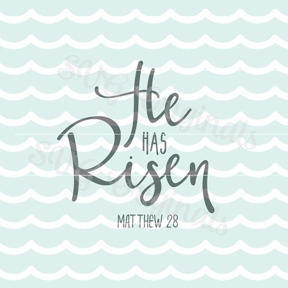 Easter SVG He has risen SVG Vector file. So many by SVGoriginals
