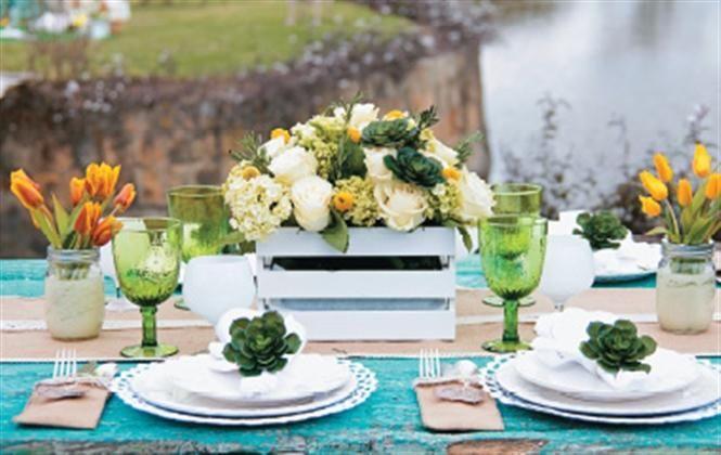 El carácter campestre de esta celebración se expresa de manera genuina en una propuesta estilo picnic, para disfrutar en medio de la naturaleza.