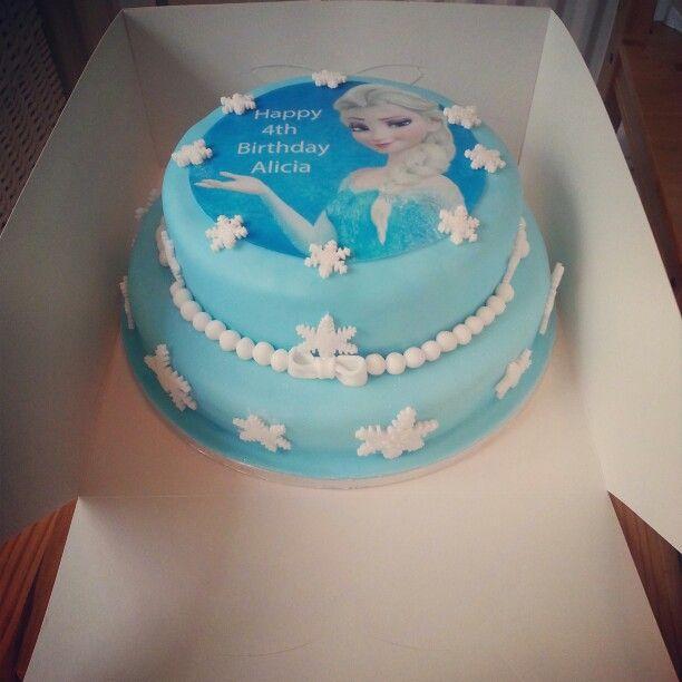 2 tier frozen elsa cake
