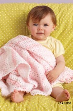 Lion Brand® Babysoft® Pink V-Stitch Baby Throw