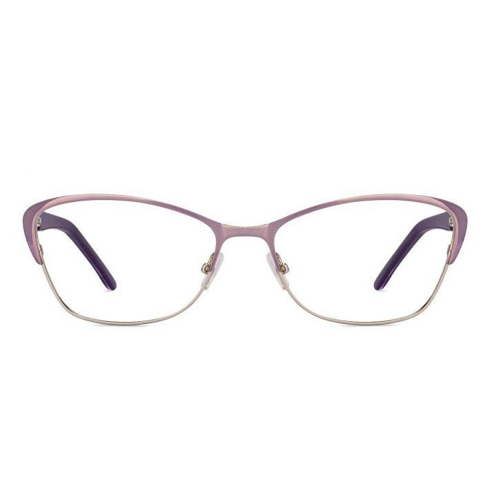 Idee 1496-C6 Purple Silver Frame with Purple Design Temple Women's Cat Eye Eyeglasses  #Idee #Women #CatEye #Eyeglasses #eyewear #opticvilla