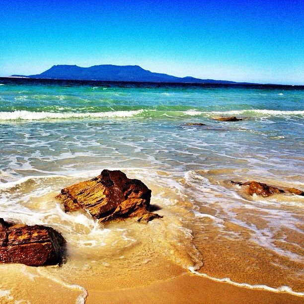 Just one of the many views on the East Coast of Tasmania - for this one, grab a takeaway coffee at Orford drive 2 mins and gaze and laze