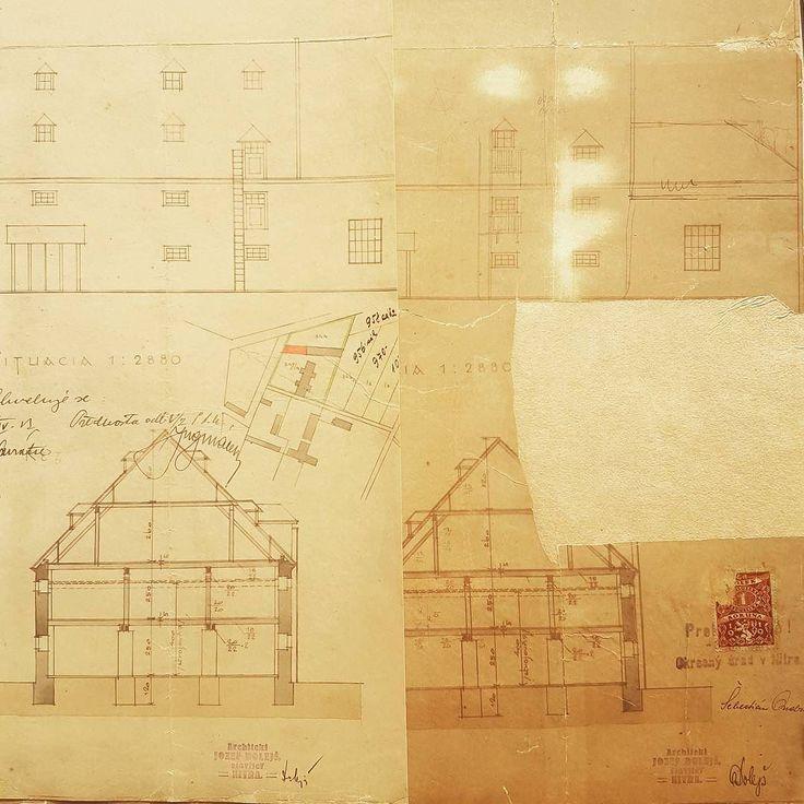 Dnes potesime majitela mlynu v Mojmirovciach 2x. Prvy krat restaurovanou dokumentaciou prestavby. #restaurovanie #mojmirovce #nasaobnova #tanter