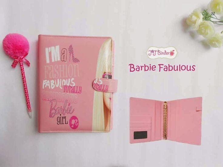 Nama  Produk : Binder Girls Barbie Fabulous Ukuran   :A5 20ring : 60rb , B5 26 ring : 70rb Bahan  : Kulit Sintetis Deskripsi : 3 slot kartu, 1 slot foto 1 Slot pulpen