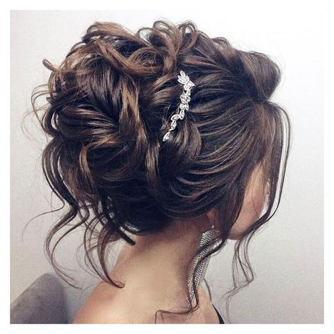 Beautiful updo wedding hairstyle for long hair perfect for any wedding... ❤ liked on Polyvore featuring beauty products, haircare and hair styling tools