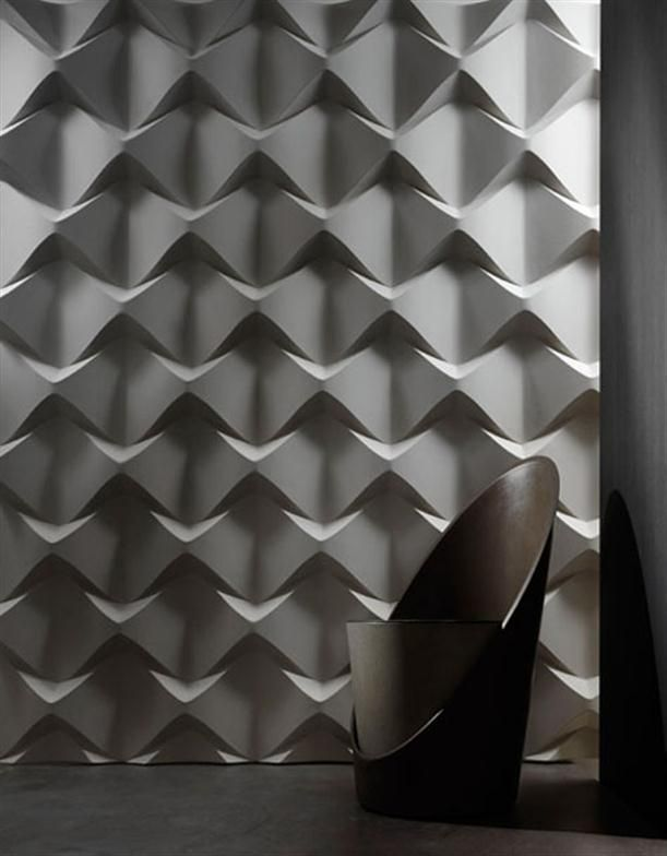 Modern Decorative Wall Panels with Innovative Forms and Material » Silver flowery Modern Decorative Wall Panels
