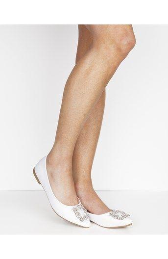 Cool Have2have Ballerinasko Hvid Have2have Sko til Dame i fantastisk kvalitet