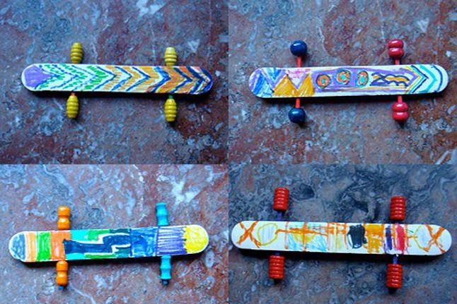 Mini Skateboards - http://www.pbs.org/parents/crafts-for-kids/mini-skateboards/