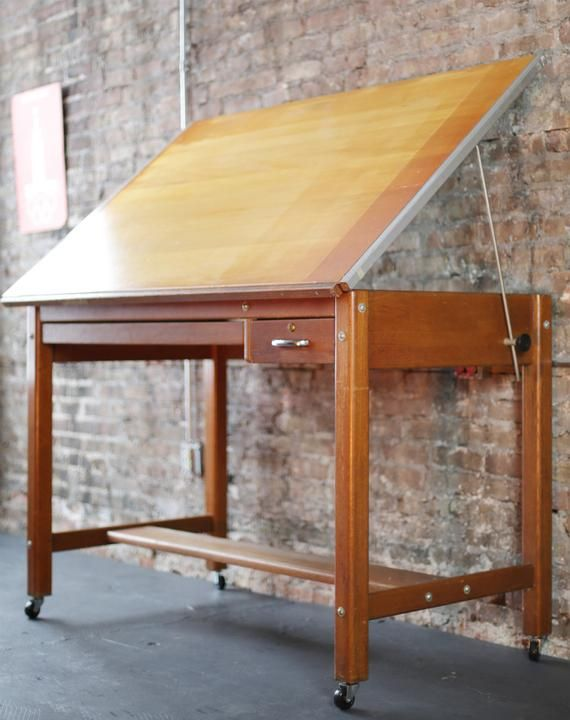 Drafting Artist Table Desk Vintage Drafting Table Architects