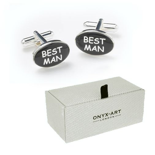 Wedding Gift For Groom From Best Man : Best man gifts cufflinks for the best man oval silver plated men s ...