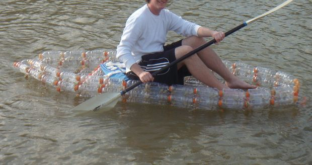 Picture of Make an open kayak from recycled bottles