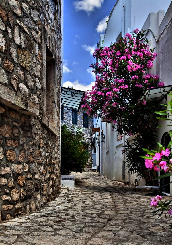Narrow street in Marmaris, Turkey