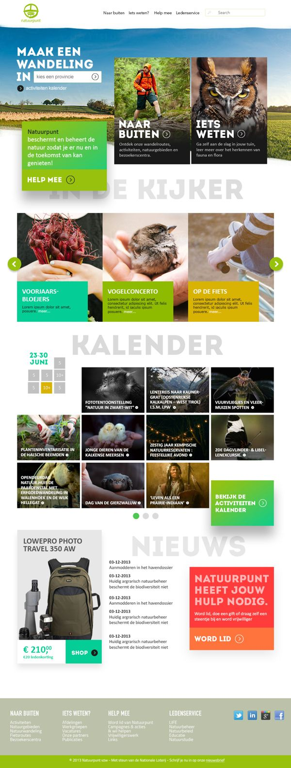 Natuurpunt | #webdesign #design #branding #corporate #website