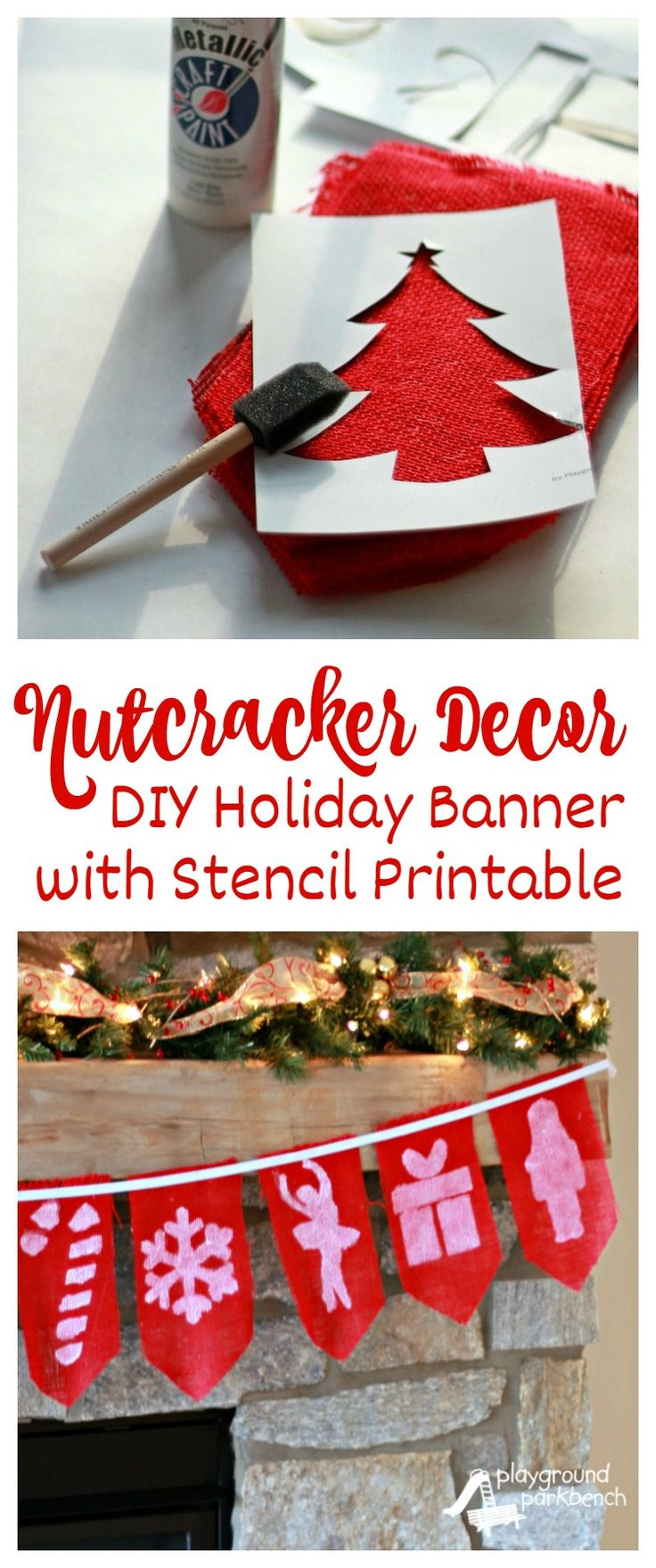 How to make a nutcracker christmas decoration - Nutcracker Decor Diy Holiday Banner
