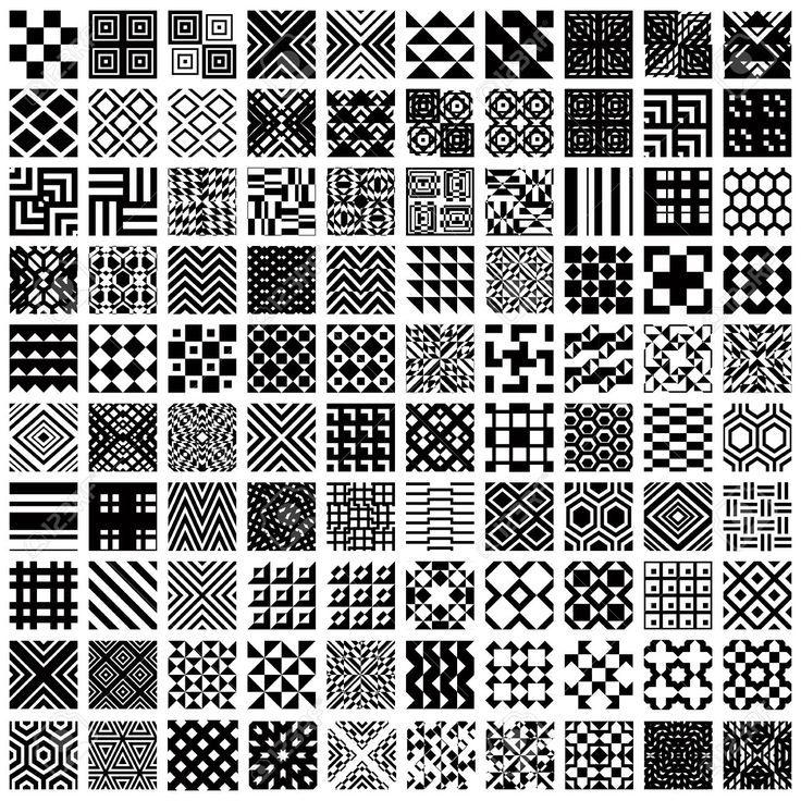 100 geometrische nahtlose Muster eingestellt, schwarz und weiß Vektor-Hintergründe Sammlung – #eingestellt #geometrische #muster #nahtlose #Sammlung…