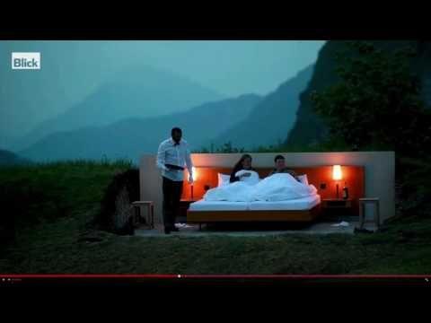 Null-Stern-Hotel in der Schweiz: Ein Doppelbett in freier Natur | traveLink.