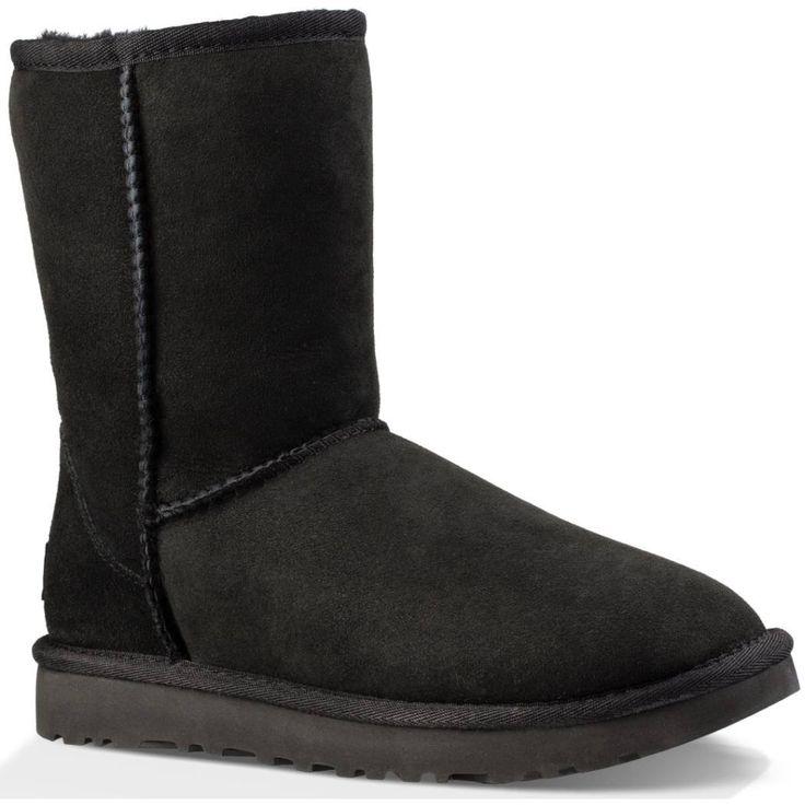 Women's Winter Boot - Winter Fashion - Ugg Classic Short II - Black - $159.95
