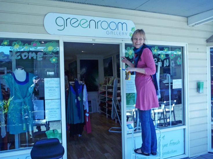 Decorating our windows for our very first 'Spring Into Life' Fashion Parade 2012 On The Promenade Coffs Harbour