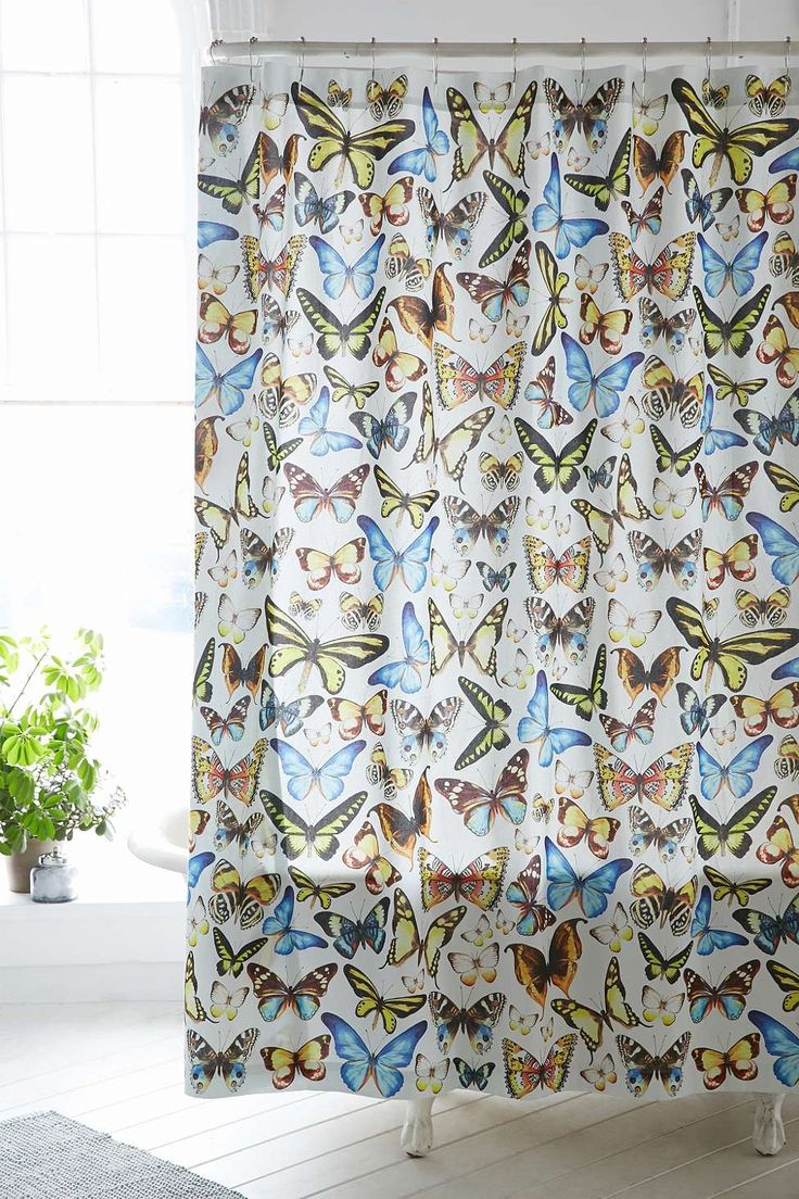 Plum coloured bathroom accessories - Entomology Butterfly Shower Curtain Urban Outfitters Butterfly Shower Curtainbathroom Accessoriesshower Curtainsplumapartment