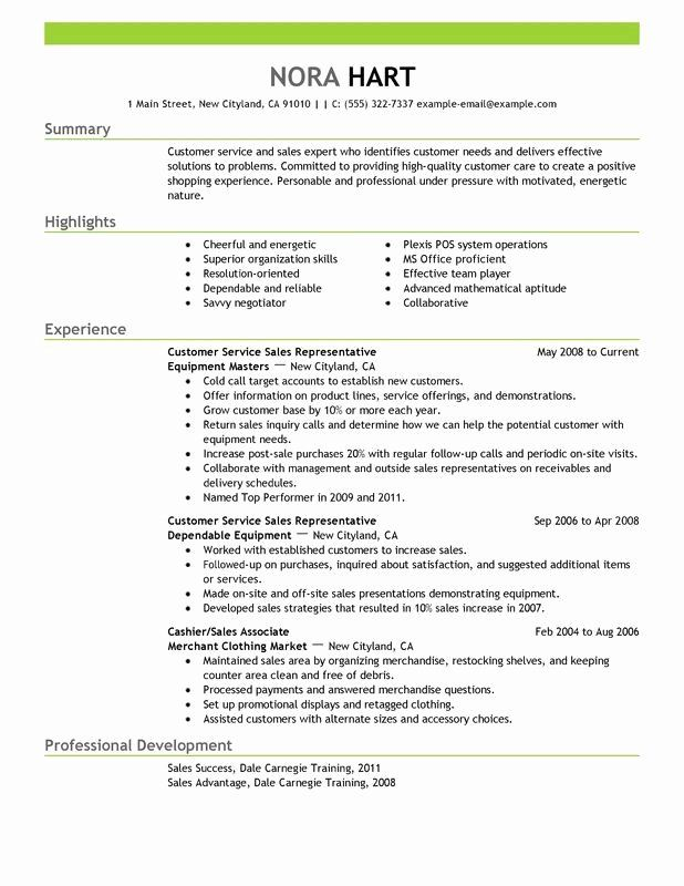 25 Customer Service Resume Template Free In 2020 Resume Summary