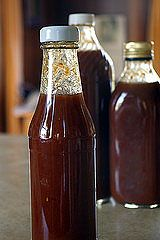 Steak Sauce Recipe  -Good, but will try again omitting the vinegar.  Because of the lemon juice, it was quite overpowering.  Too much sour, not enough---everything else ;)