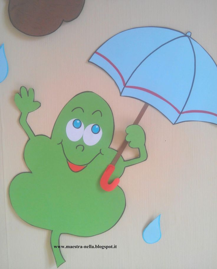 Piove piove...ma le foglioline hanno l'ombrello