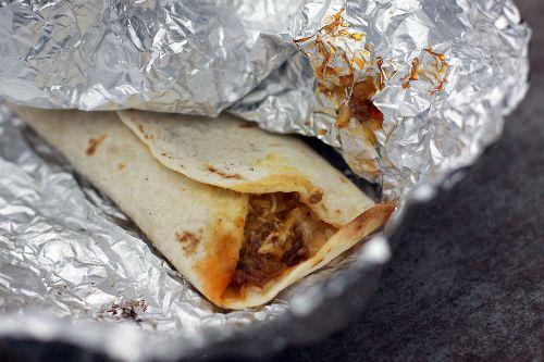 burritos over the fire