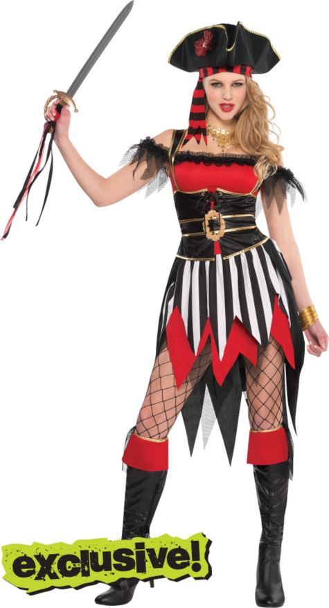 Adult Shipwreck Treasure Pirate Costume - Party City