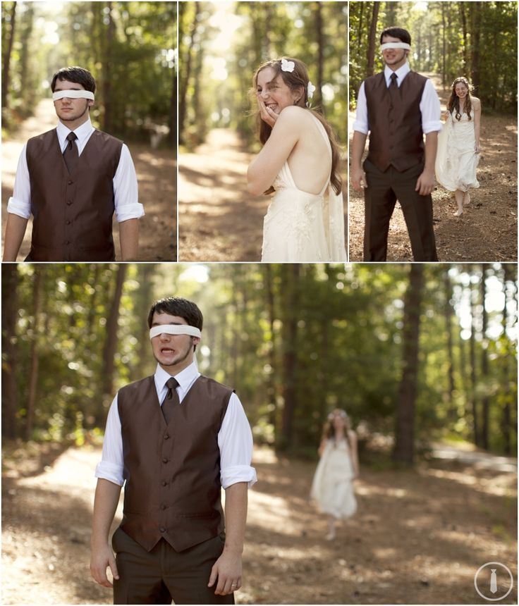 Bride And Groom First Look Portraits At East Texas Wedding