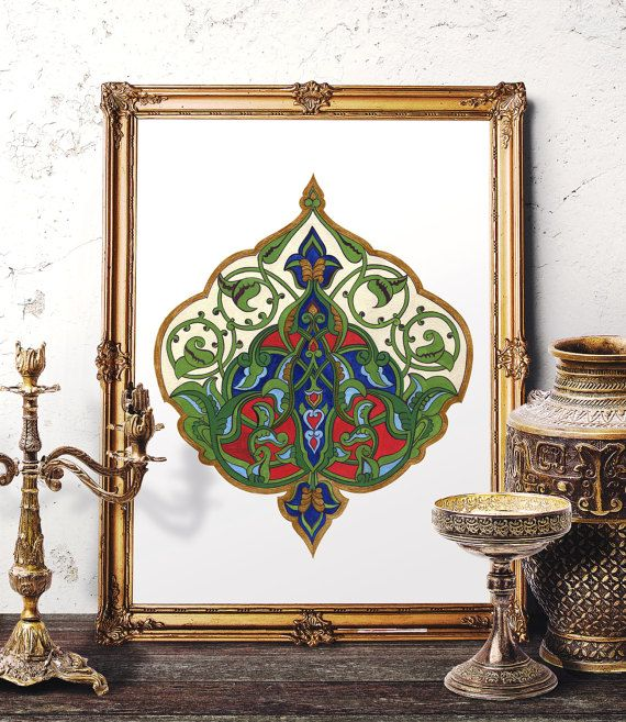 Traditional Ottoman Tulip Watercolor Wall Art Turkish Floral: 135 Best Images About Hermes Art Studio On Pinterest