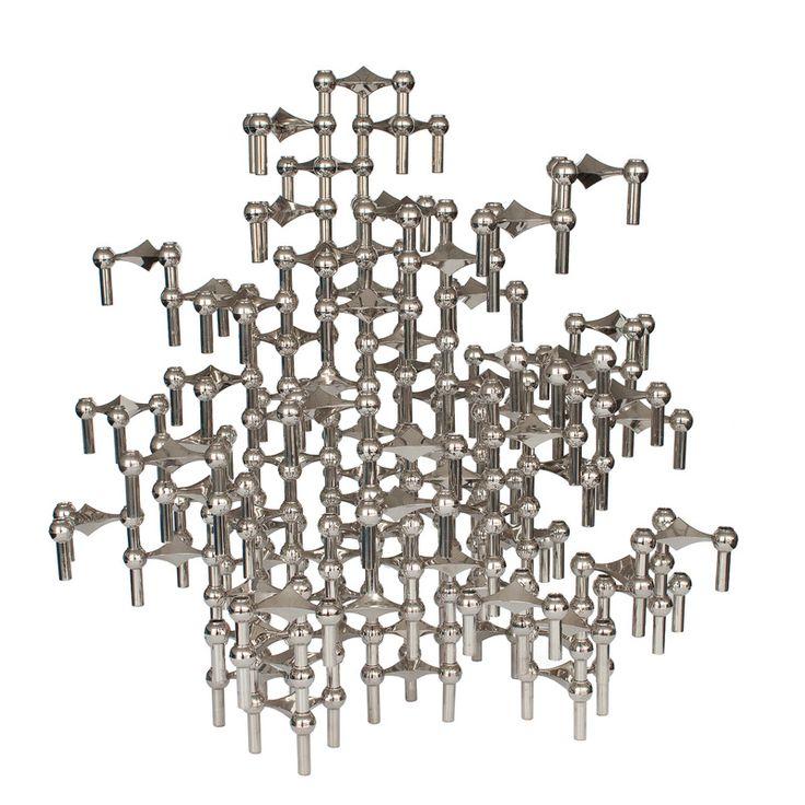 Set 87 Piece Modular Candlestick Sculpture by Fritz Nagel and Caesar Stoffi - VERN + VERA