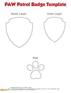 Shocking image with regard to paw patrol badge template printable