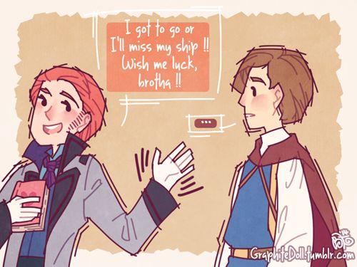 Hans gets brotips on girls (13/15 graphitedoll.tumblr)