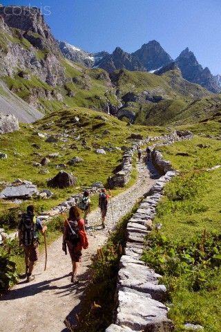 Randonnée sur le Col de la Vanoise Pralognan la Vanoise dans les Alpes françaises