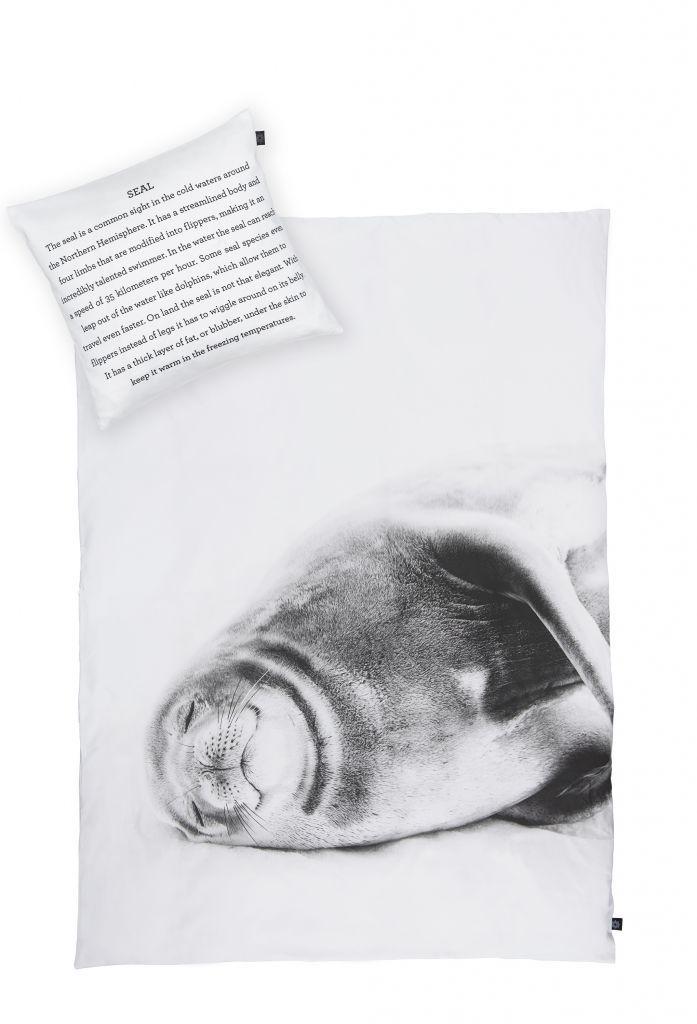 Dětské povlečení Smiling Seal 70 x 100 | Nordic Day