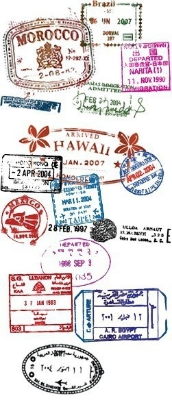 Passport - Travel the world through literature. Students could do a short annotation of the work they've read on the page with the appropriate country stamp.