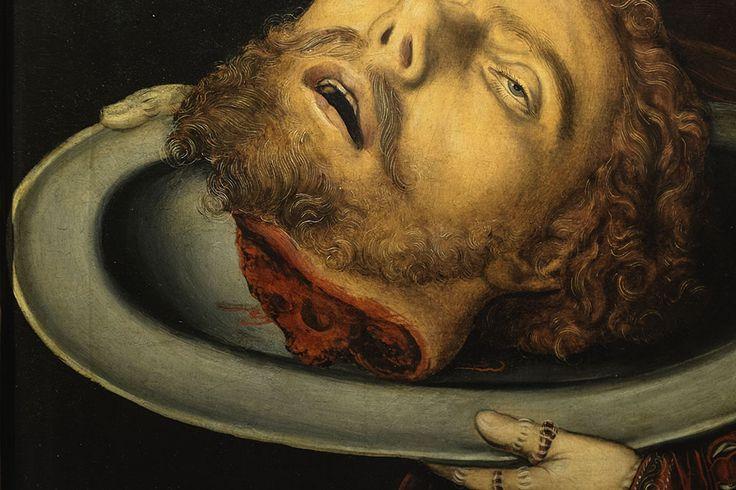 Lucas Cranach: Salome Keresztelő Szent János fejével, részlet