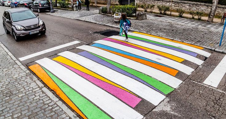 Featured Image for In Madrid, crosswalks are made more vibrant to promote safety
