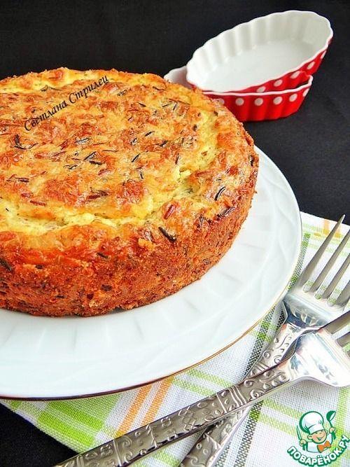 Рисовая запеканка с копченым сыром - кулинарный рецепт