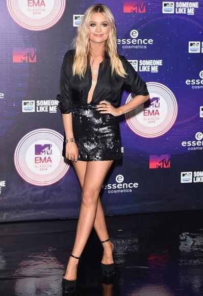 Laura Whitmore at the MTV ema's