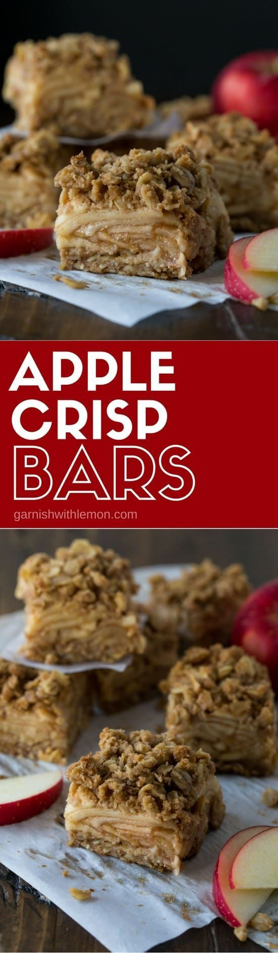 These Apple Crisp bars have all of the flavor of our favorite fall dessert in portable form!