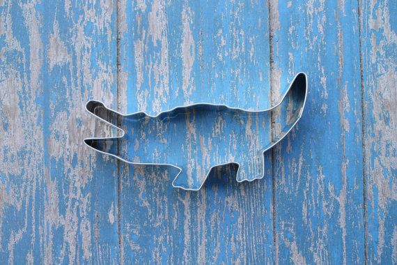 Alligator Cookie Cutter gator party Alligator by MoosesCreations, $3.25