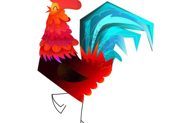 The Roosters by Iryna Korshak, via Behance
