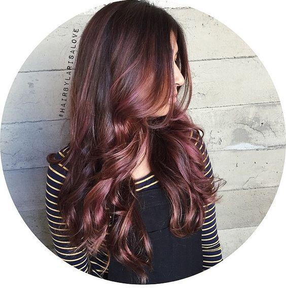 rose brunette balayage - Google Search