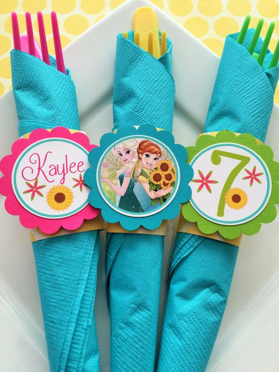 12 Frozen Fever Birthday Party Paper Napkin by sweetheartpartyshop