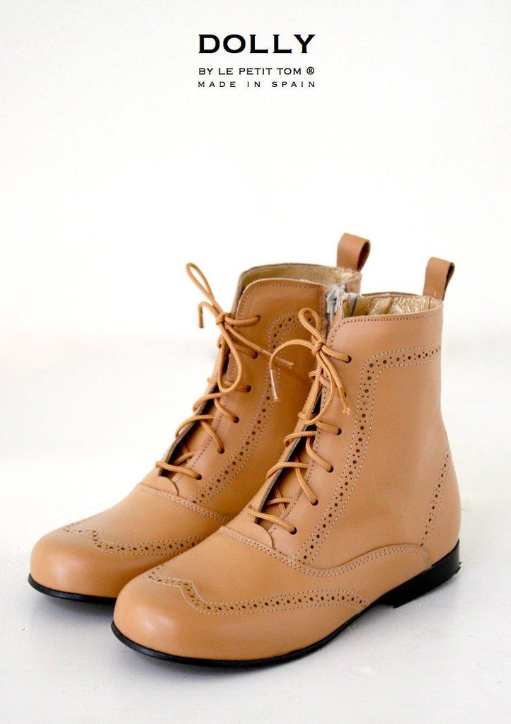 DOLLY by Le Petit Tom ® CLASSIC DOLL BOOT 11GBOOT CAMEL Leather
