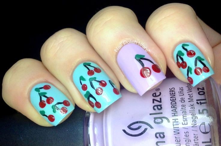 Nail Polish Wars: Cherry Nails for a Cherry Day